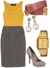 Żółto beżowa sukienka