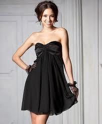 Czarna sukienka bez ramiączek tuba