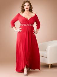 Długa czerwona suknia xxl